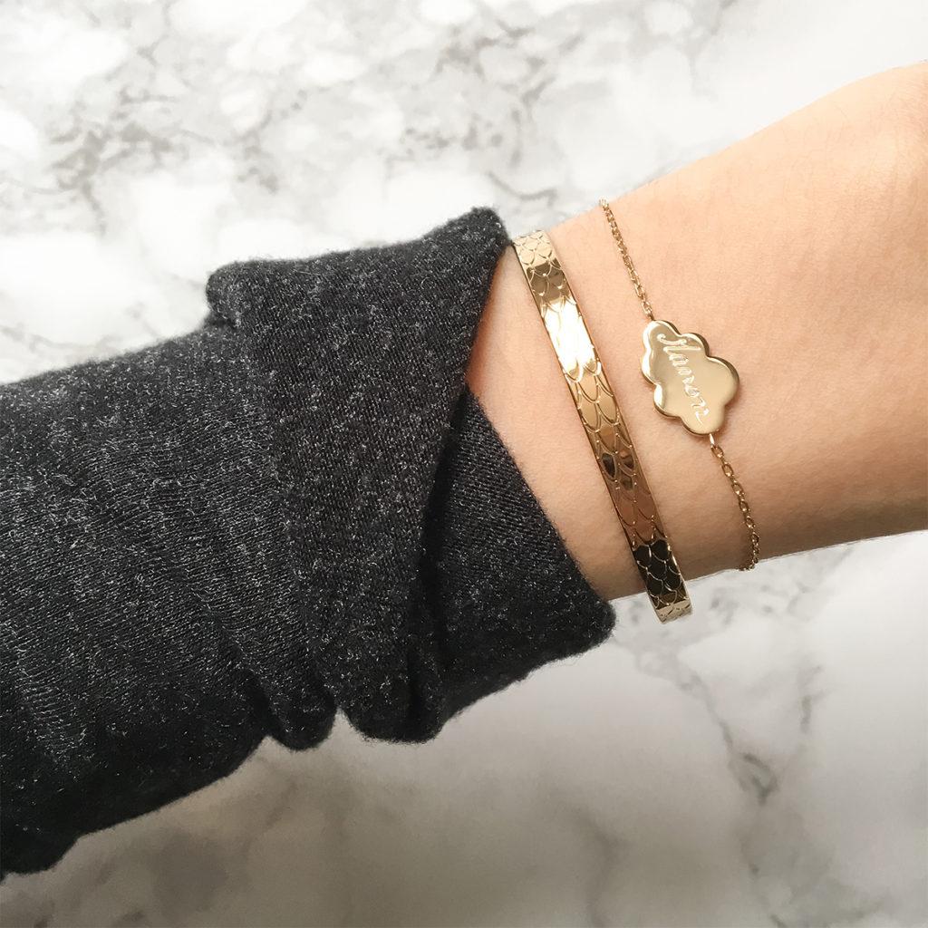 bracelet en or pour femme customisé