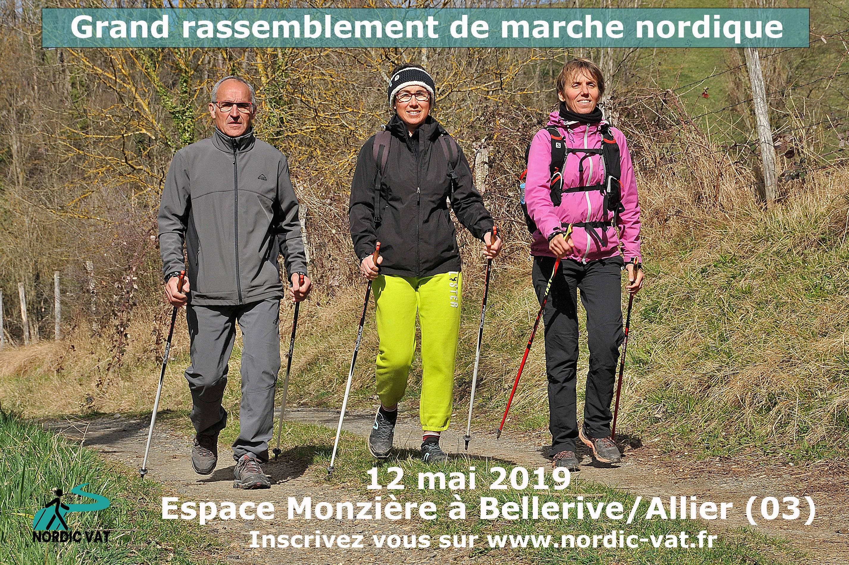 Grand rassemblement Marche Nordique à Bellerive sur Allier (03)