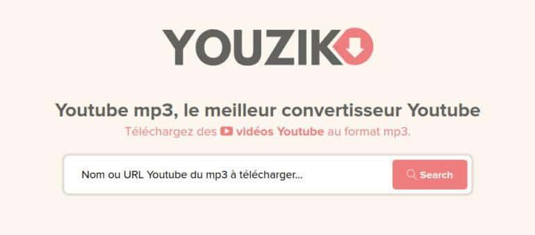 youzik convertisseur vidéos youtube en mp3