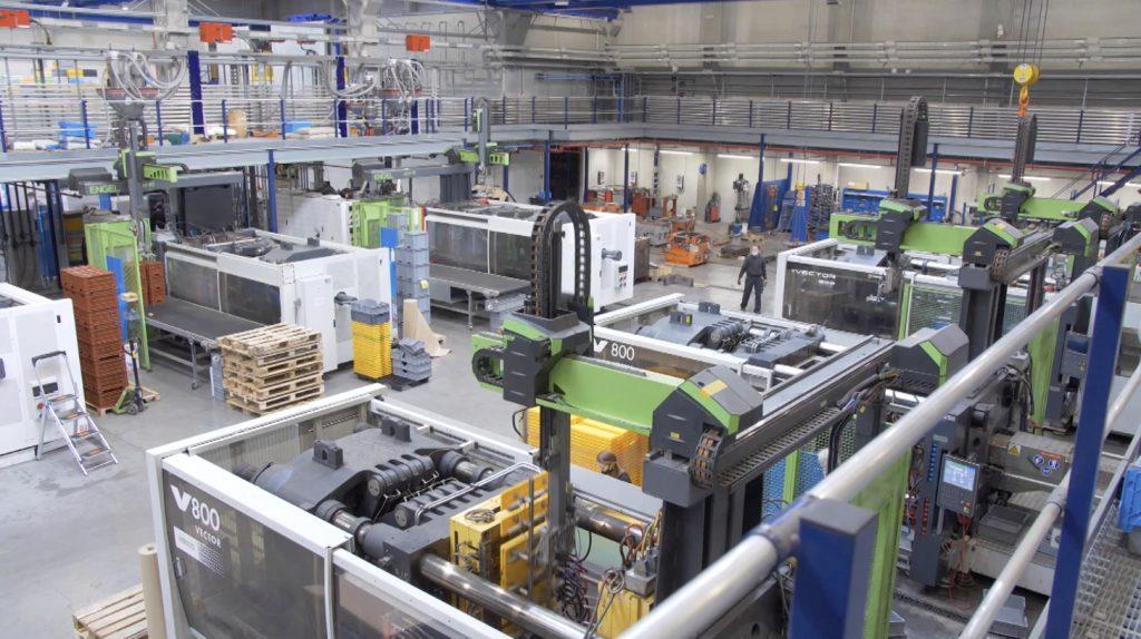 Le nouveau parc de machines pour l'usine